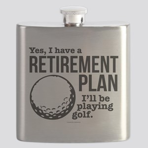 Golf Retirement Plan Flask